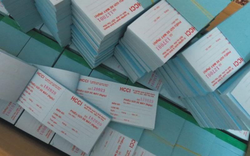 Địa chỉ chuyên nhận in vé giữ xe – in offset giá rẻ và chuyên nghiệp nhất tại Tphcm